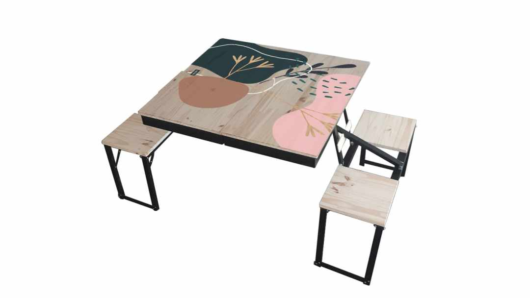 Table Dezyco motif Arty Foot Print