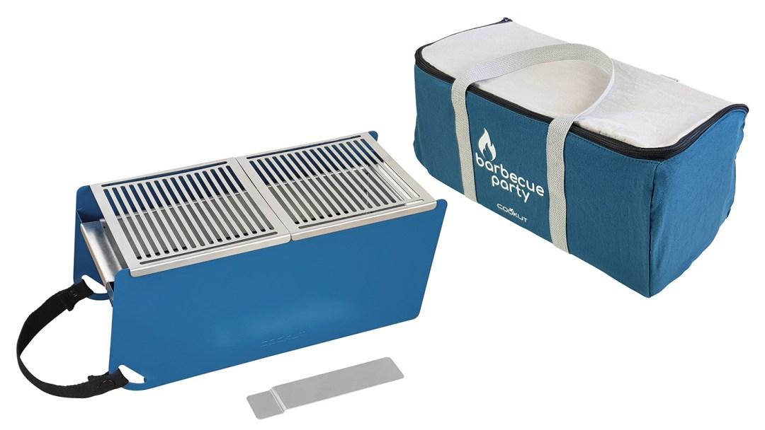 Barbecue transportable et écoresponsable - couleur bleu cyan