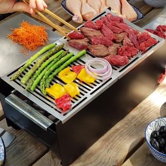 barbecue transportable et écoresponsable en métal