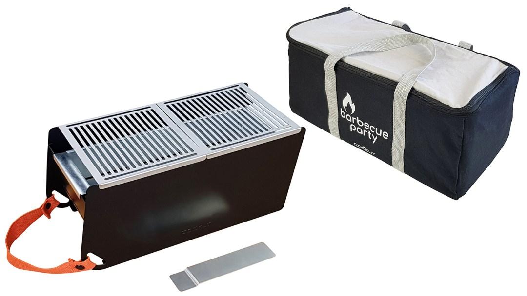 Barbecue transportable et écoresponsable - couleur noir intense