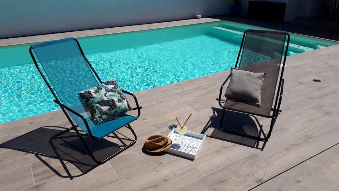 Fauteuil Pliable Design - Au bord de la piscine