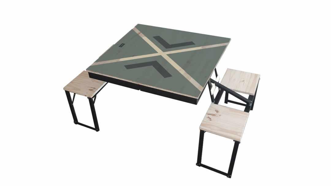 Table Dezyco motif Cross Sail