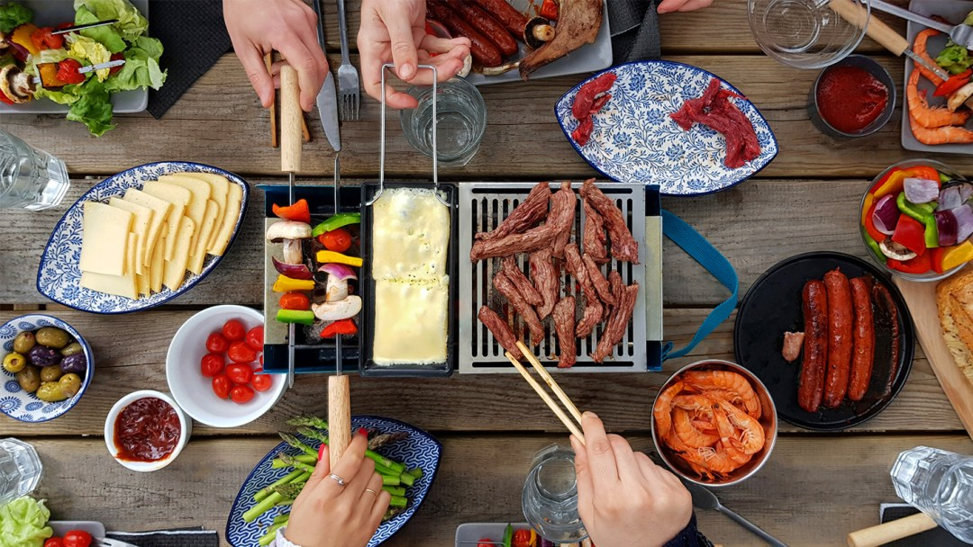 Kit accessoires barbecue transportable - fromage
