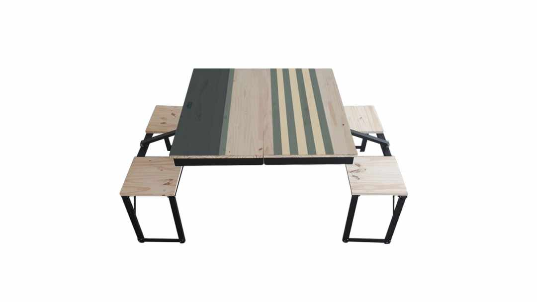 Table Dezyco motif Stripes Sail