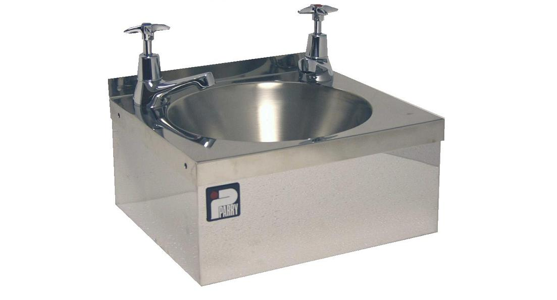 parry cwbmin t stainless steel mini hand wash sink with taps
