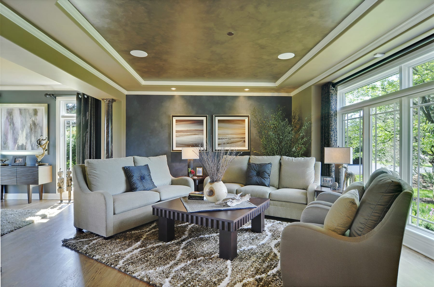 this living room project began with an interior design consultation the design plan included a