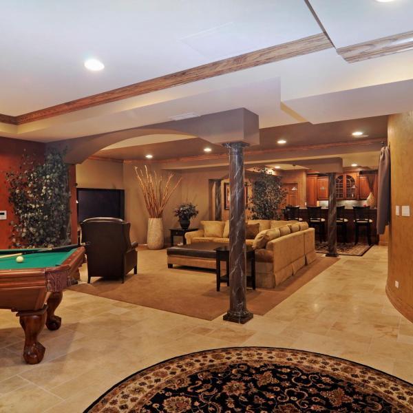 Basement Interior Design: Basement Entertainment Room Portfolio