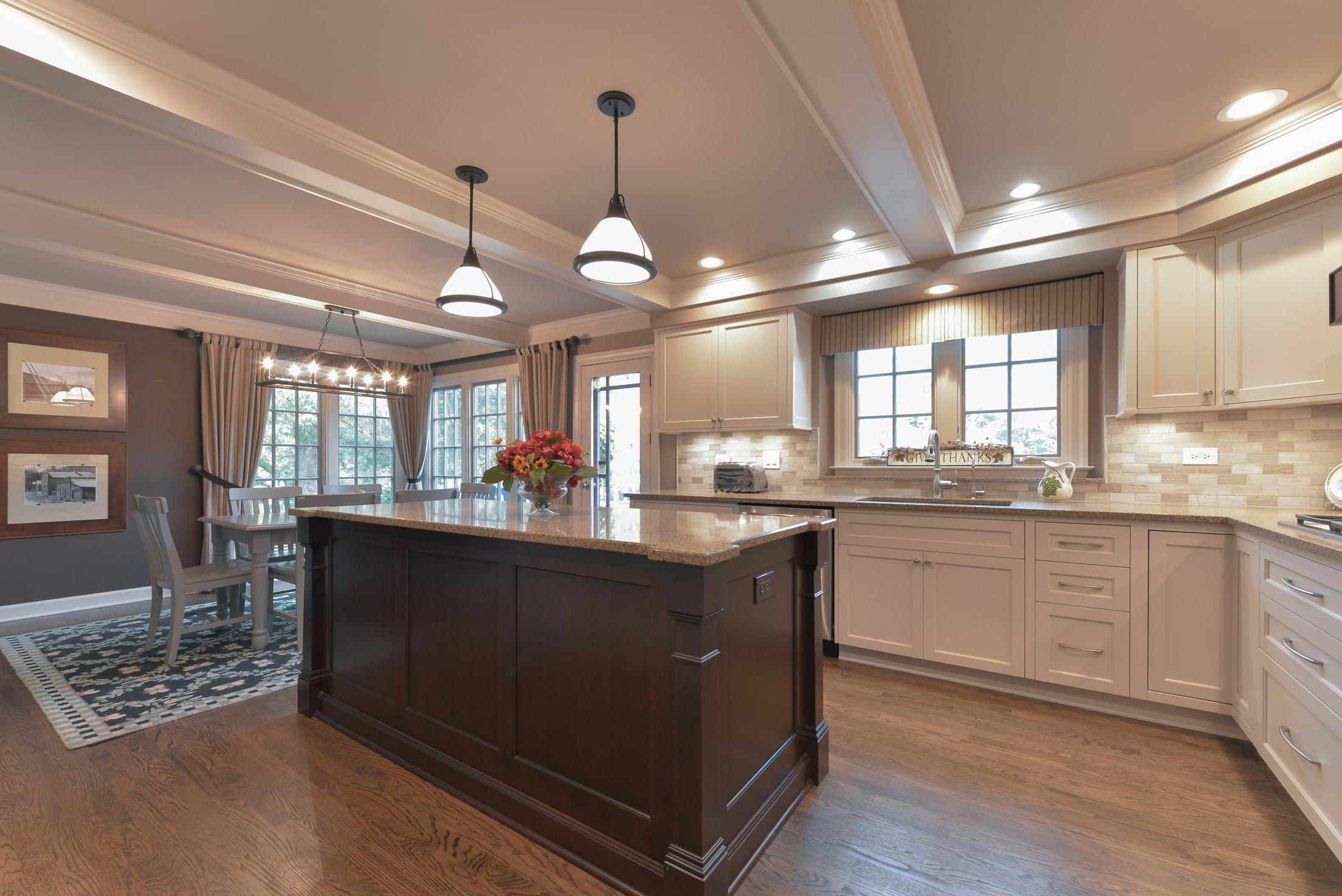 original kitchen design. The original footprint of this Barrington IL kitchen design was preserved  in the remodeling process We began renovation with a Kitchen Design Portfolio Expert Build Product Selections