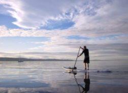 man board paddling