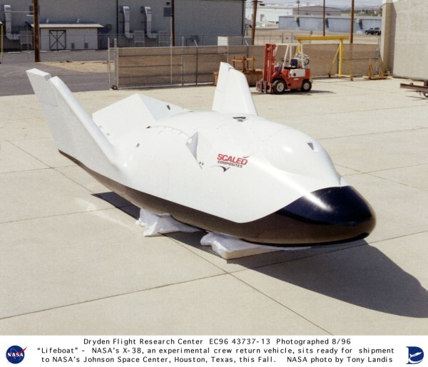 "X-38 EC96-43737-13: X-38 ""Lifeboat"" Side View - Ready for ..."