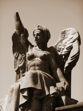 Monument at Glasgow City Necropolis, Scotland