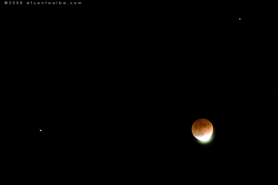 eclipsed moon at -25°C
