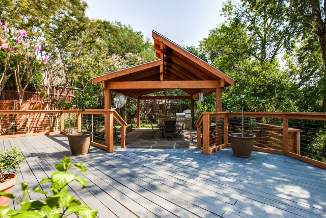 Outdoor Living Space | DFW Improved | 972-377-7600 on Backyard Outdoor Living Spaces id=16758