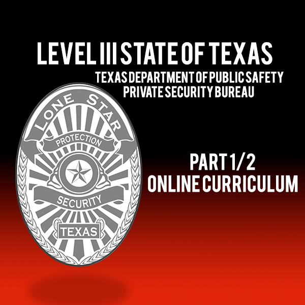 Texas Private Security Level 3