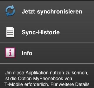 T-Mobile My Phonebook im Appstore
