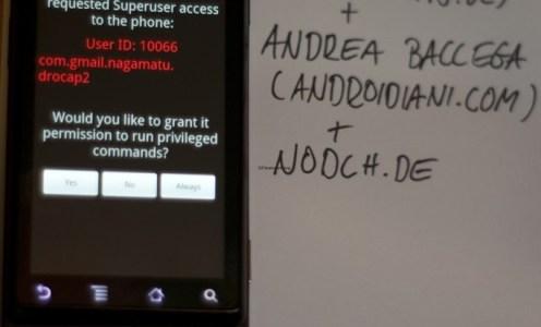 Motorola Milestone, Droid und Nexus One mit root Zugriff