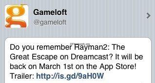 Rayman kommt in den Appstore