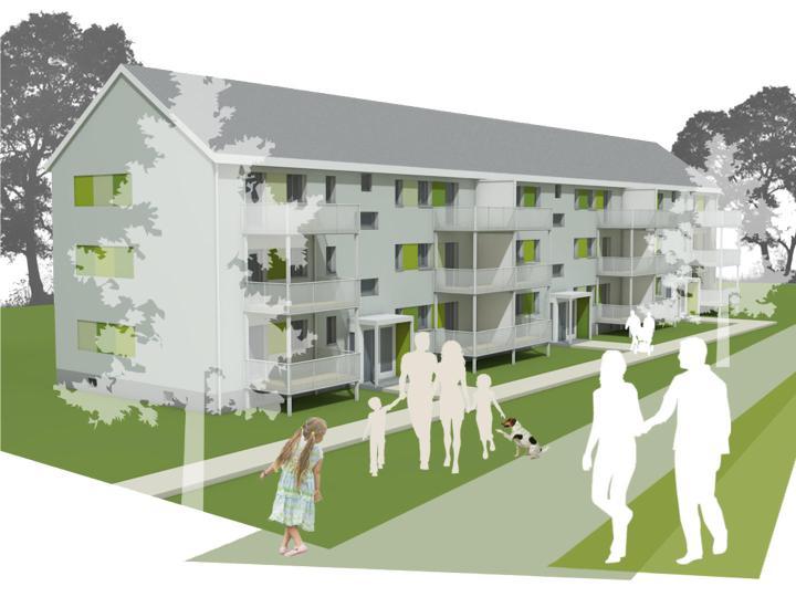 Siedlung Bochum Perspektive
