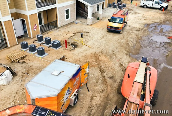 DGM Equipment at Eagle Landing Apartment Project.