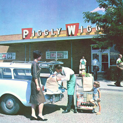 Piggly Wiggly Vintage grocery store.