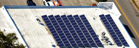 Solar Array on D.G. Meyer Roof