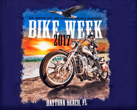 Bike Week Tee Shirt 2017