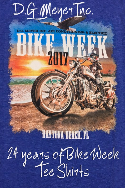 24 Years of Bike Week Tee shirts!