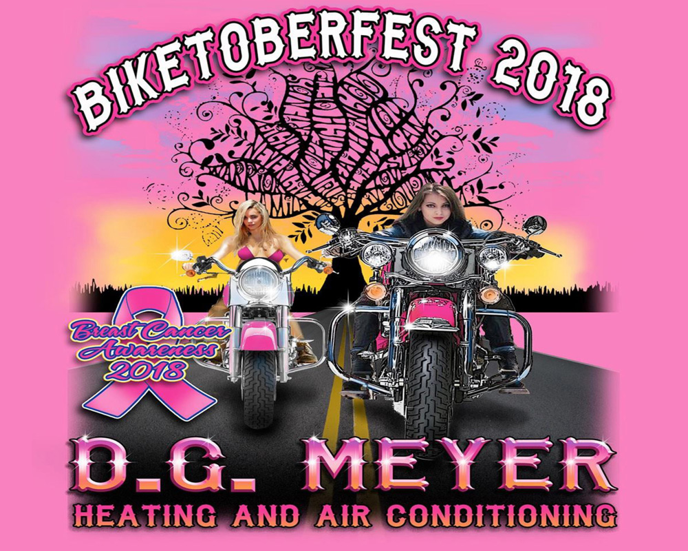 D.G. Meyer Special Edition Biketoberfest/Breast Cancer Walk Tee 2018