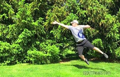 disc golf jump putt