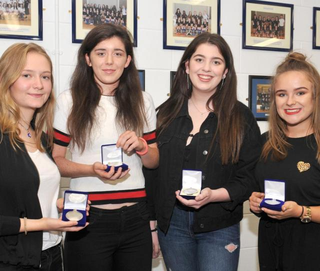 Aoibhinn Fox Hughes Shauna Campbell Lauren Kenny And Olivia Winters Who Received Awards For Achieving H1s In At Least One Subject In This Years Leaving
