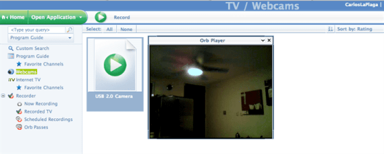 Video de la camara USB desde MyCast