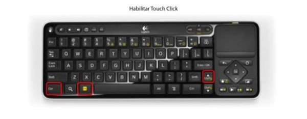 Habilitar Touch to click