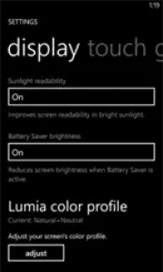 NokiaSettingsDisplay
