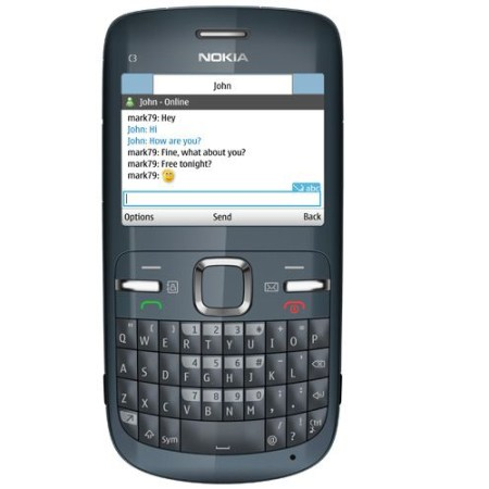 Nokia C3-00 Wifi Qwerty Keypad Camera Unlocked Mobile Phone