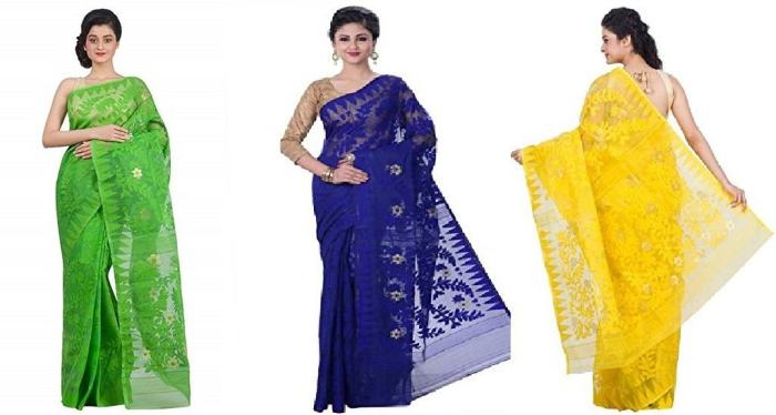 Purchase Sarees Online, JAMDANI COTTON SAREES,