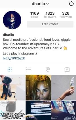 DhariLo Instagram SS1