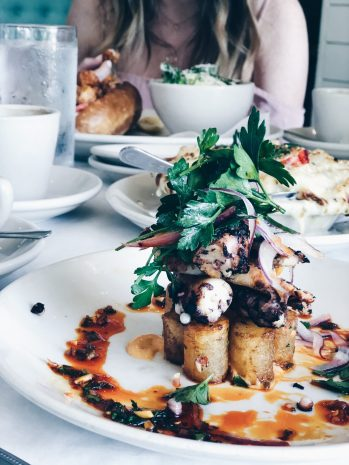 Patatas bravas and octopus at Perla's Austin