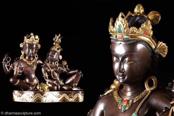 """Shiva & Parvati with Nandi 16"""""""