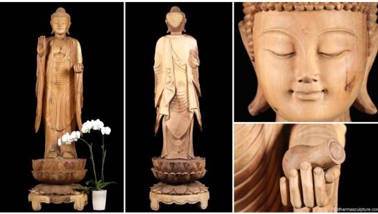 large standing balinese buddha