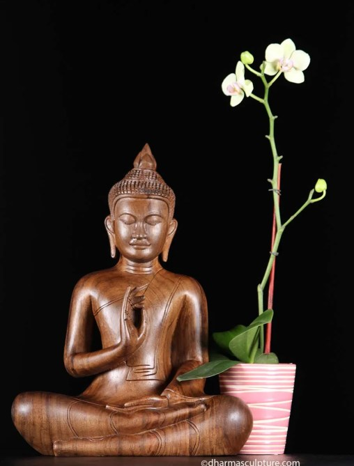teaching-mudra-wooden-buddha-statue