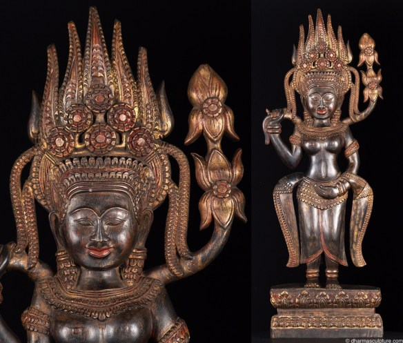 Mythology of Aspara, Cambodian Statue, 32""