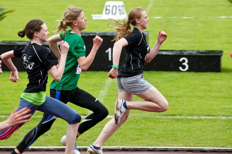 Leichtathletik Bezirksmeisterschaft Lüneburg Jugend U16 - U14 in Schneverdingen am 25.5.2013
