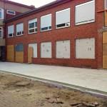 Mensabau Gymnasium am Wall Verden: Status am 24.04.2014