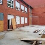 Mensabau Gymnasium am Wall Verden: Status am 08.05.2014