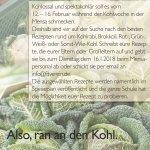 Kohlwoche-Plakat- Mensa am GaW