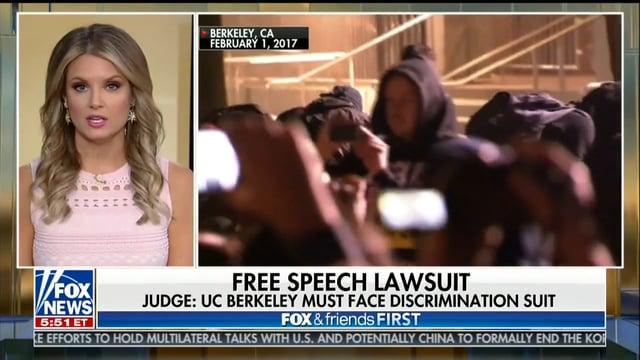 Telecast of UC Berkeley Free Speech Lawsuit - Dhillon Law Group
