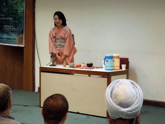 Tea ceremony demonstration