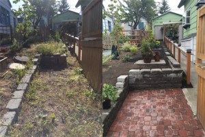 landscaping clean outs