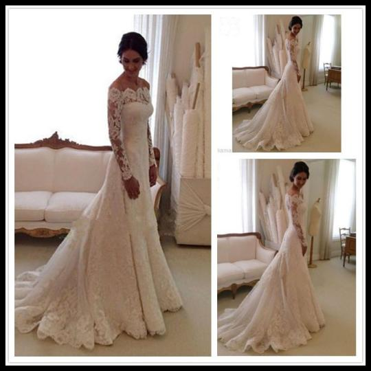Fashion Long Sleeve Wedding Dress Sexy Lace Wedding Dresses Mermaid     Fashion Long Sleeve Wedding Dress Sexy Lace Wedding Dresses Mermaid Off  Shoulder White China Wedding Gowns Bridal Dress Brautkleider Online Wedding  Dress