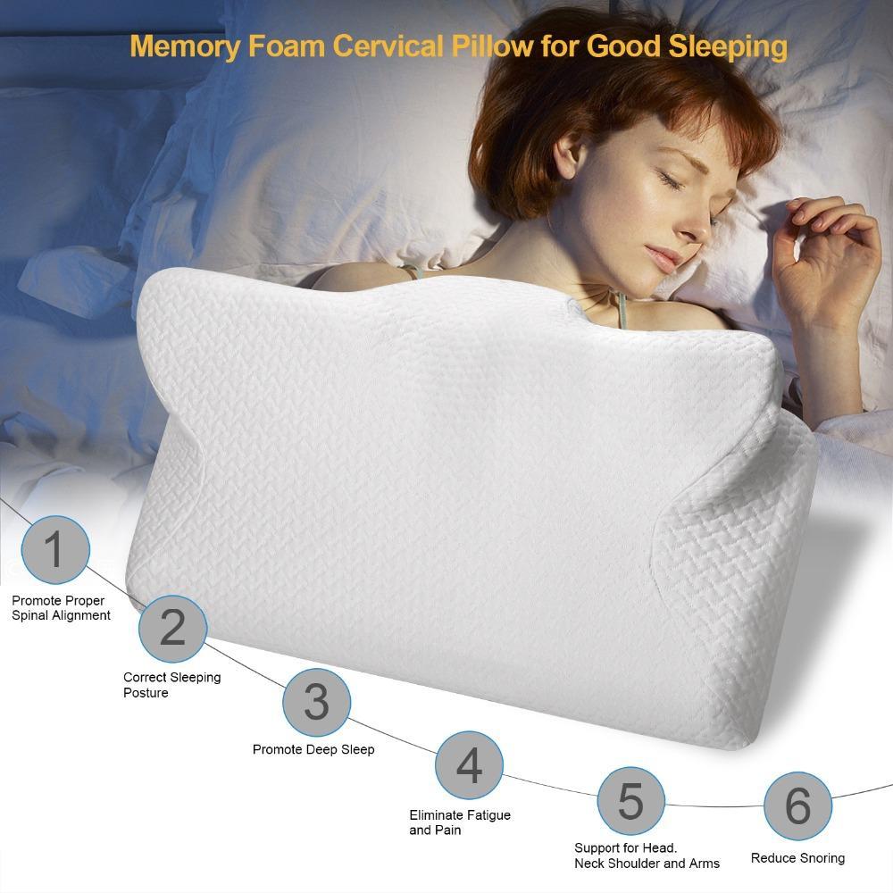 grosshandel cpap pillow contour kissen fur anti snore memory foam contour design reduziert gesichtsmaske druck luftlecks cpap zubehor von moyeah 62 19